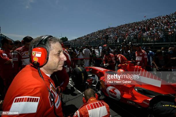 Jean Todt Michael Schumacher Ferrari 248 F1 Toyota TF106 OR Toyota TF106B Grand Prix of Canada Circuit Gilles Villeneuve 25 June 2006 Jean Todt on...