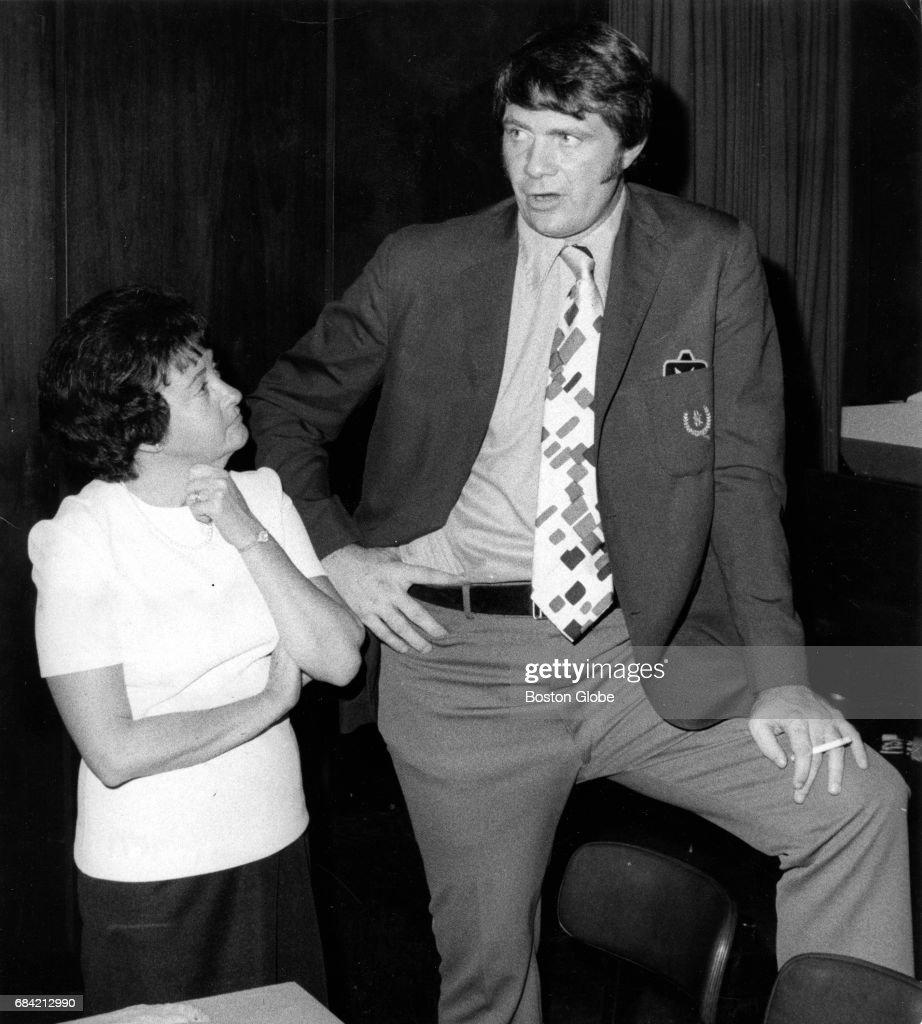 Celtics Coach Tom Heinsohn During Luncheon At Playboy Club