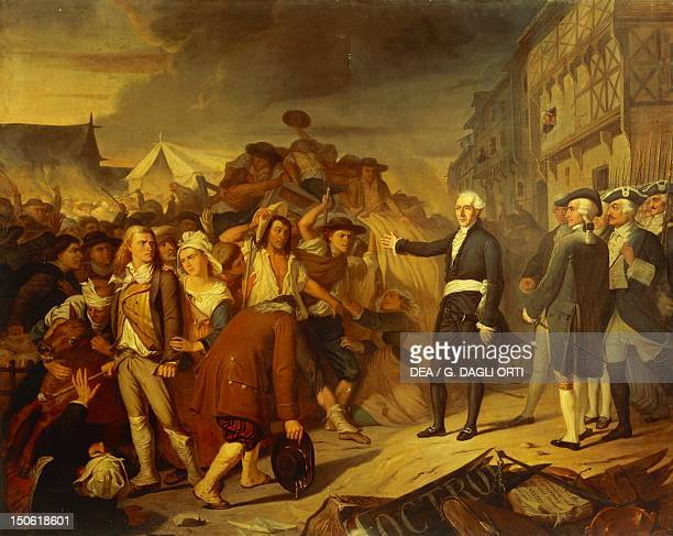 JeanBaptiste Carrier Jacobin and representative of the Convention seeking to prevent a riot in Nantes during the Reign of Terror of the French...