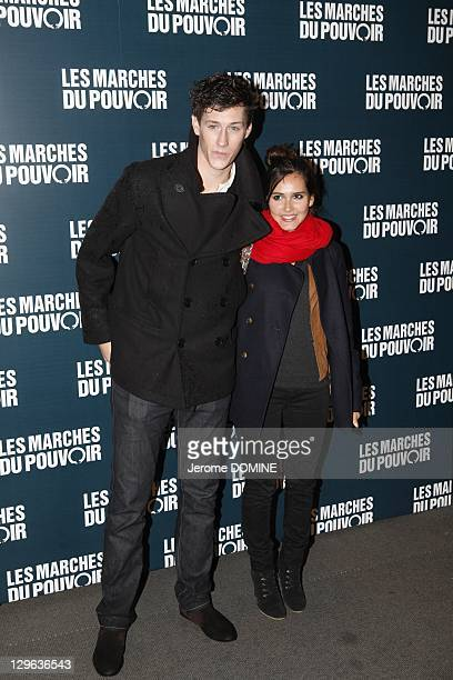 JeanBaptiste Maunier and Joyce Jonathan attend 'The Ides of March' Paris Premiere at Cinema UGC Normandie on October 18 2011 in Paris France