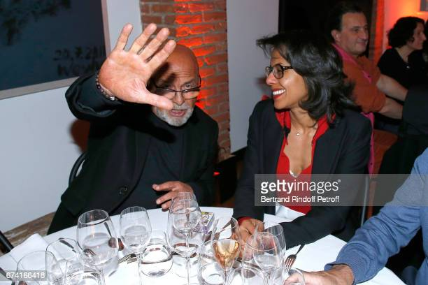 JeanBaptiste Mondino and Audrey Pulvar attend the 'pascALEjandro L'Androgyne Alchimique' Exhibition Opening at Azzedine Alaia Gallery on April 27...