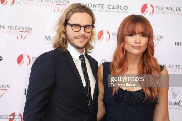 JeanBaptiste Shelmerdine and Esther Joy arrive at the Opening Ceremony of the 57th Monte Carlo TV Festival and World premier of Absentia Serie on...