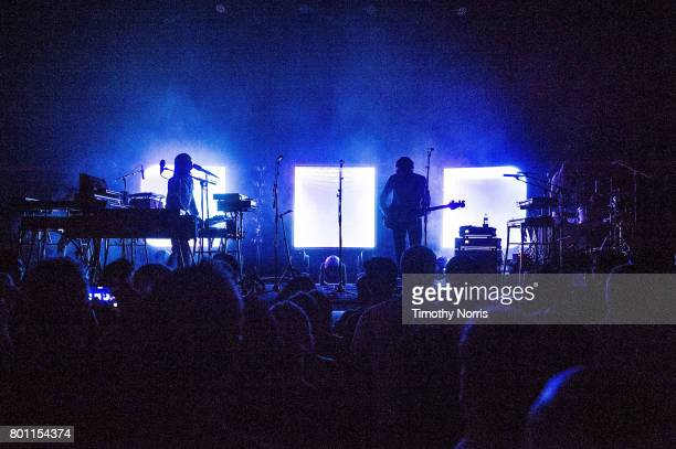 JeanBenoit Dunckel and Nicolas Godin of Air perform at The Greek Theatre on June 25 2017 in Los Angeles California