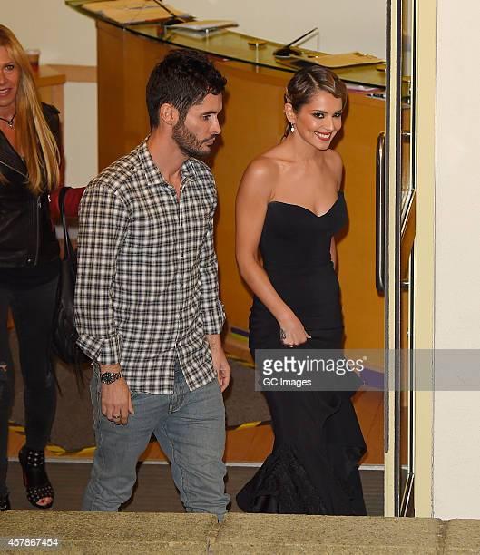 JeanBernard FernandezVersini and Cheryl FernandezVersini leave the X Factor studio on October 25 2014 in London England