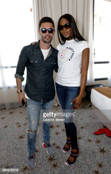 JeanBernard FernandezVersini and Naomi Campbell host a poolside press conference for Fashion for Relief at Versini GREY GOOSE popup on May 20 2017 in...