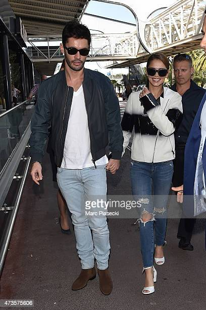 JeanBernard FernandezVersini and wife Cheryl FernandezVersini are seen at Nice airport during the 68th annual Cannes Film Festival on May 16 2015 in...