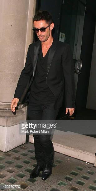 JeanBernard FernandezVersini seen leaving the Avenue after attending the launch of Cheryl FernandezVersini's new perfume 'Storm Flower' on July 23...