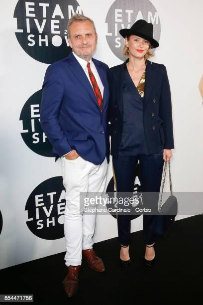 JeanCharles de Castelbajac and Pauline de Drouas attend the Etam show as part of the Paris Fashion Week Womenswear Spring/Summer 2018 at on September...