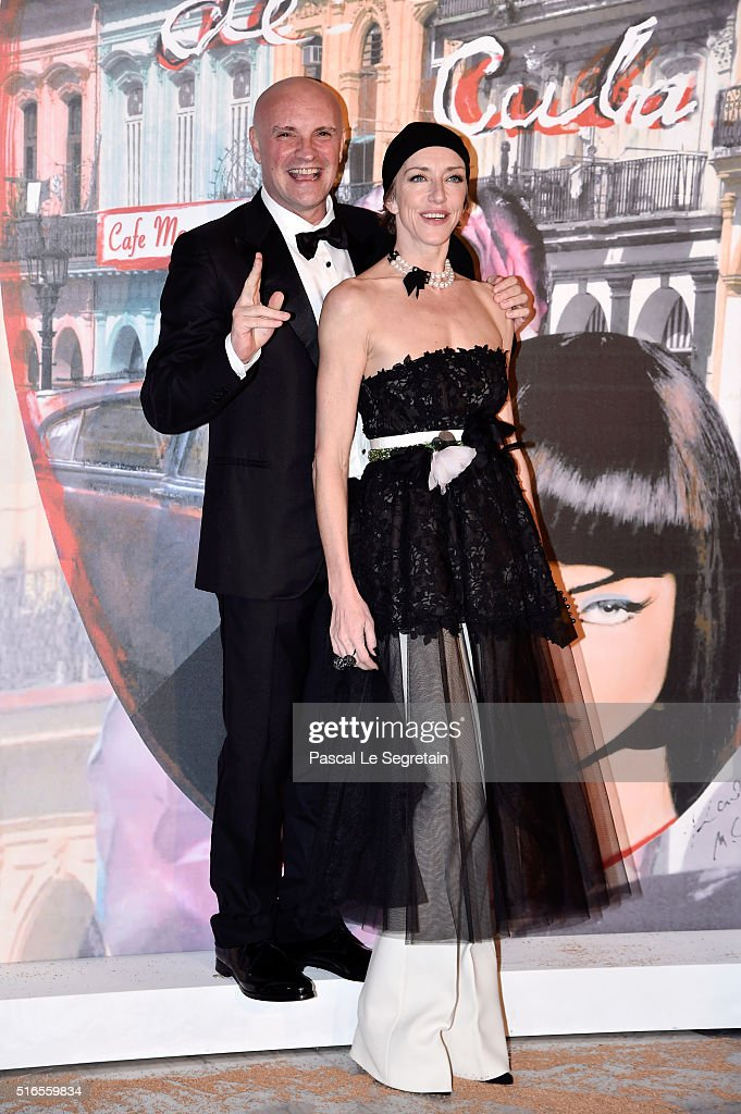 Jean-Christophe Maillot and a guest attend The 62nd Rose Ball To Benefit The Princess Grace Foundation at Sporting Monte-Carlo on March 19, 2016 in Monte-Carlo, Monaco.
