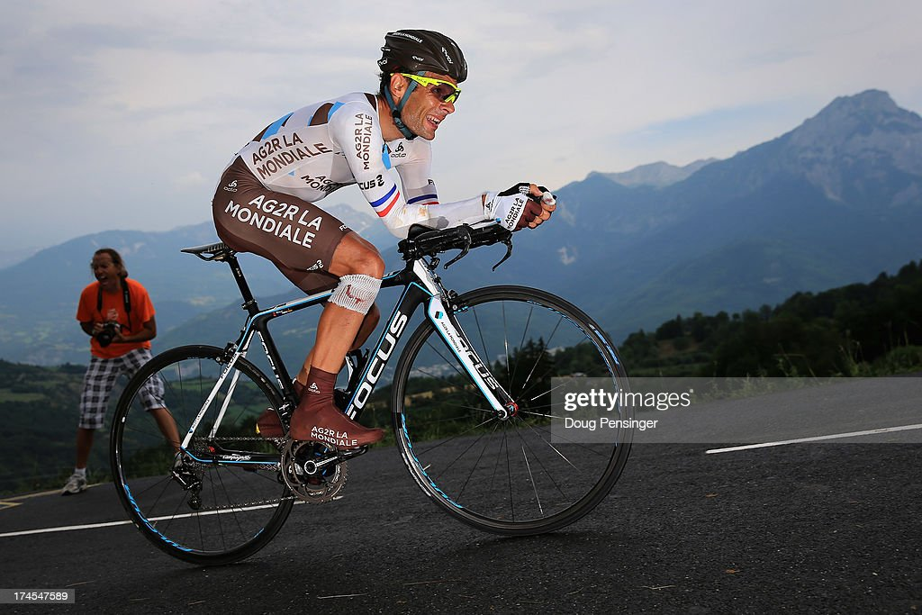 <a gi-track='captionPersonalityLinkClicked' href=/galleries/search?phrase=Jean-Christophe+Peraud&family=editorial&specificpeople=777897 ng-click='$event.stopPropagation()'>Jean-Christophe Peraud</a> of France riding for AG2R-La Mondiale competes during stage seventeen of the 2013 Tour de France, a 32KM Individual Time Trial from Embrun to Chorges, on July 17, 2013 in Chorges, France.