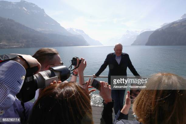 JeanClaude Biver CEO of TAG Heuer and President of the LVMH Watch Division arrives for a press conference during the international launch of the TAG...
