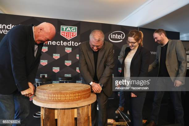 JeanClaude Biver CEO of TAG Heuer and President of the LVMH Watch Division cut his own cheese with Josh Walden Senior Vice President and Genral...
