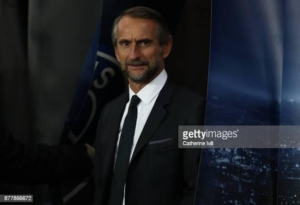 JeanClaude Blanc General manager of PSG during the UEFA Champions League group B match between Paris SaintGermain and Celtic FC at Parc des Princes...