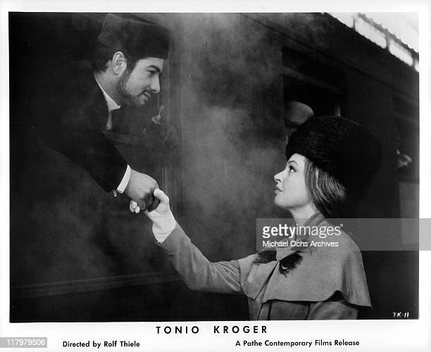JeanClaude Brialy and Nadja Tiller say goodbye in a scene from the film 'Tonio Kroger' 1968