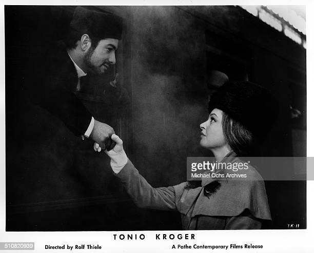 JeanClaude Brialy as Tonio Kroeger says goodbye to Nadja Tiller in a scene from the movie 'Tonio Kroeger' circa 1964