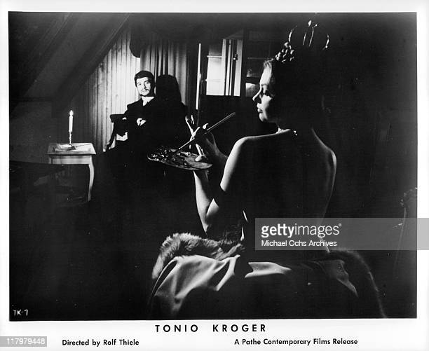 JeanClaude Brialy in front of Nadja Tiller in dream sequence in a scene from the film 'Tonio Kroger' 1968