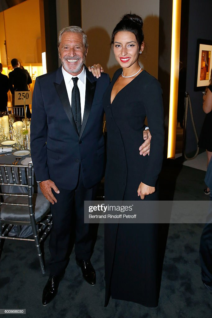 Jean-Claude Darmon (L) and Myriam attend the 28th Biennale des Antiquaires : Pre-Opening at Grand Palais on September 8, 2016 in Paris, France.