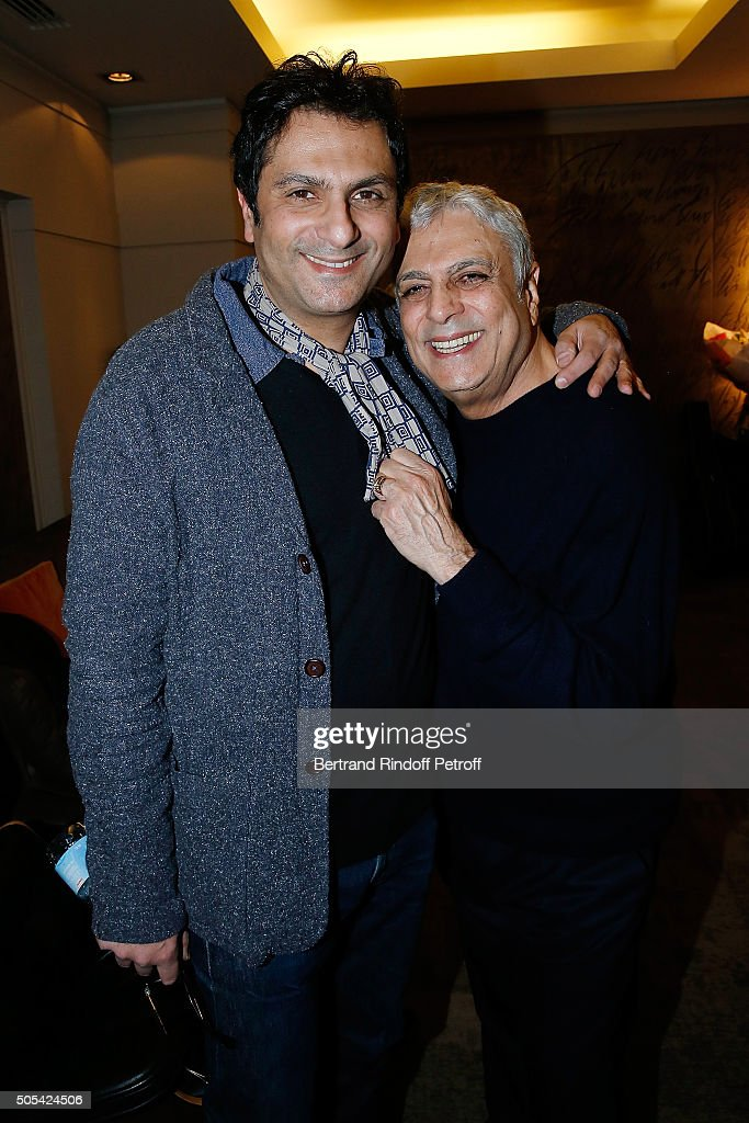 Jean-Claude Ghrenassia and his father <a gi-track='captionPersonalityLinkClicked' href=/galleries/search?phrase=Enrico+Macias&family=editorial&specificpeople=2057443 ng-click='$event.stopPropagation()'>Enrico Macias</a> attend The <a gi-track='captionPersonalityLinkClicked' href=/galleries/search?phrase=Enrico+Macias&family=editorial&specificpeople=2057443 ng-click='$event.stopPropagation()'>Enrico Macias</a> Show at L'Olympia on January 16, 2016 in Paris, France.