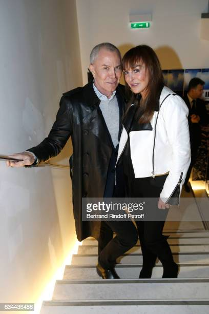 JeanClaude Jitrois and Babeth Djian attend the Launching of the Book 'Mocafico Numero' at Studio des Acacias on February 9 2017 in Paris France