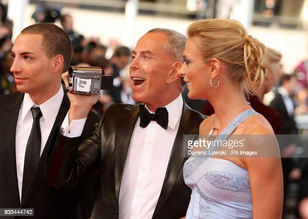 JeanClaude Jitrois and Sarah Marshall arriving at the Up premiere at the Palais de Festival during the 62nd Cannes Film Festival France
