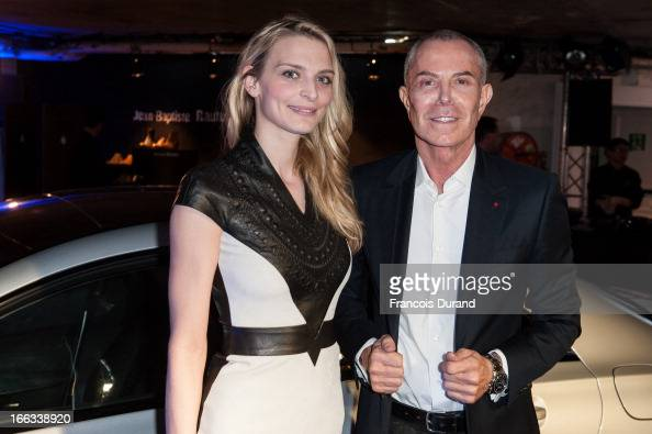JeanClaude Jitrois and Sarah Marshall attend the MercedesBenz Popup store opening party on April 11 2013 in Paris France