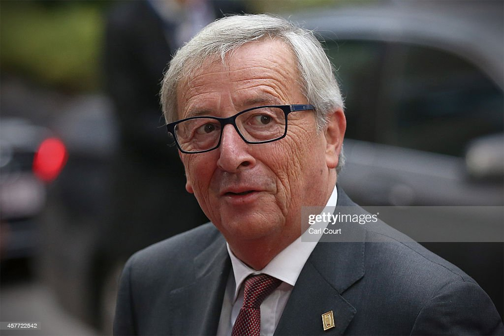 <a gi-track='captionPersonalityLinkClicked' href=/galleries/search?phrase=Jean-Claude+Juncker&family=editorial&specificpeople=207032 ng-click='$event.stopPropagation()'>Jean-Claude Juncker</a>, the President-elect of the European Commission, arrives at the headquarters of the Council of the European Union at the beginning of a two-day European Council meeting on October 23, 2014 in Brussels, Belgium. David Cameron has come in for criticism from outgoing European Commission president Jose Manuel Barroso after Downing Street said the Prime Minister will lay out plans to limit the rights of EU migrants to work in Britain as well as announcing a plan to quit the European Court of Human Rights and replace it with a UK Bill of Rights.