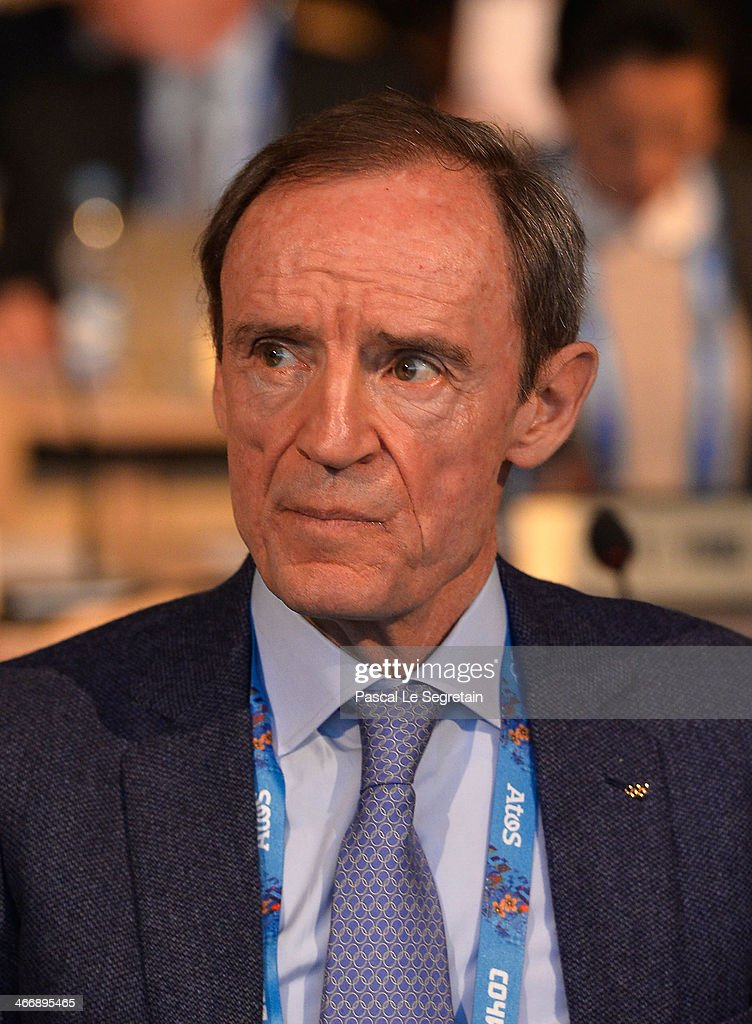 <a gi-track='captionPersonalityLinkClicked' href=/galleries/search?phrase=Jean-Claude+Killy&family=editorial&specificpeople=223880 ng-click='$event.stopPropagation()'>Jean-Claude Killy</a> of France attends the IOC meeting ahead of the Sochi 2014 Winter Olympics at the Radisson Blu hotel on February 5, 2014 in Sochi, Russia.