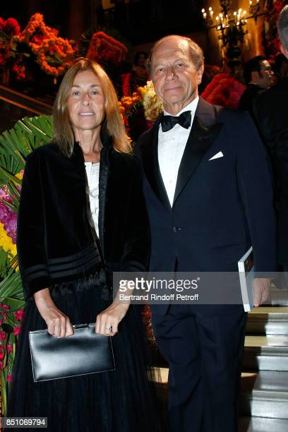 JeanClaude Meyer and his wife Nathalie BlochLaine attend the Opening Season Gala Ballet of Opera National de Paris Held at Opera Garnier on September...
