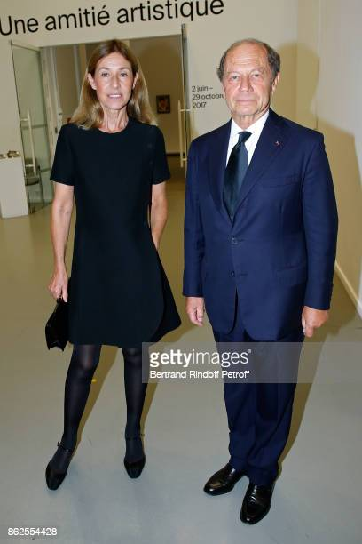 JeanClaude Meyer and his wife Nathalie BlochLaine attend the 'Societe des Amis du Musee d'Art Moderne de la Ville de Paris' Dinner on October 17 2017...
