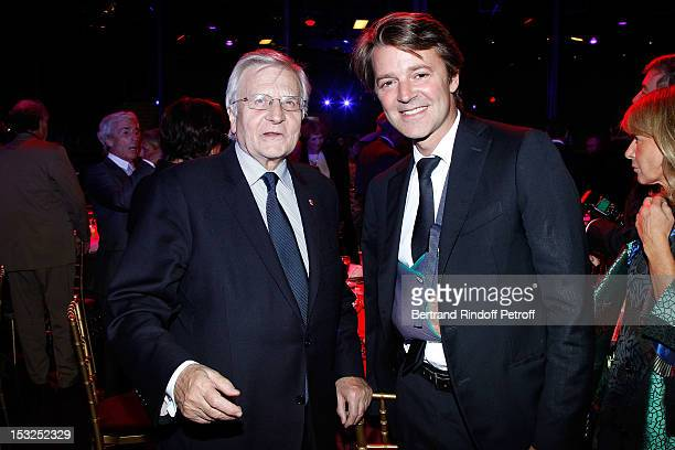 JeanClaude Trichet and Francois Baroin attend the Foundation Martine Aublet Gala Dinner at Musee du Quai Branly on October 1 2012 in Paris France