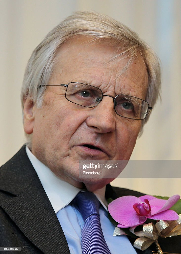 <a gi-track='captionPersonalityLinkClicked' href=/galleries/search?phrase=Jean-Claude+Trichet&family=editorial&specificpeople=208778 ng-click='$event.stopPropagation()'>Jean-Claude Trichet</a>, former president of the European Central Bank (ECB), speaks during an interview in Tokyo, Japan, on Monday, March 4, 2013. Trichet said policies targeted at weakening a country's exchange rate can trigger competitive devaluations without having any benefit. Photographer: Junko Kimura/Bloomberg via Getty Images