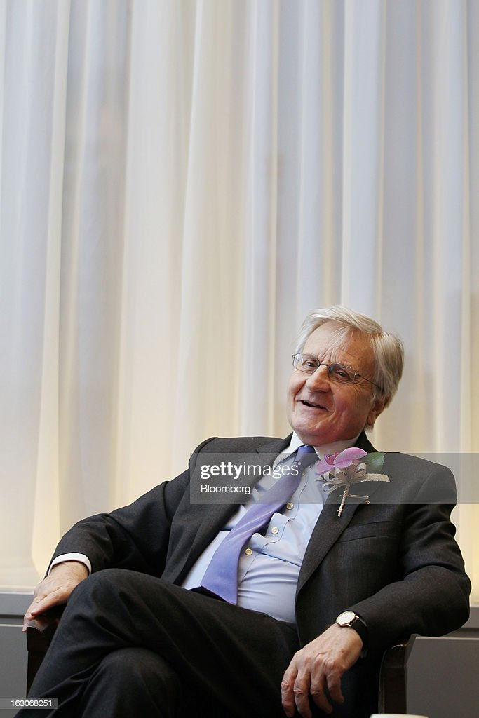 Jean-Claude Trichet, former president of the European Central Bank (ECB), speaks during an interview in Tokyo, Japan, on Monday, March 4, 2013. Trichet said policies targeted at weakening a country's exchange rate can trigger competitive devaluations without having any benefit. Photographer: Junko Kimura/Bloomberg via Getty Images