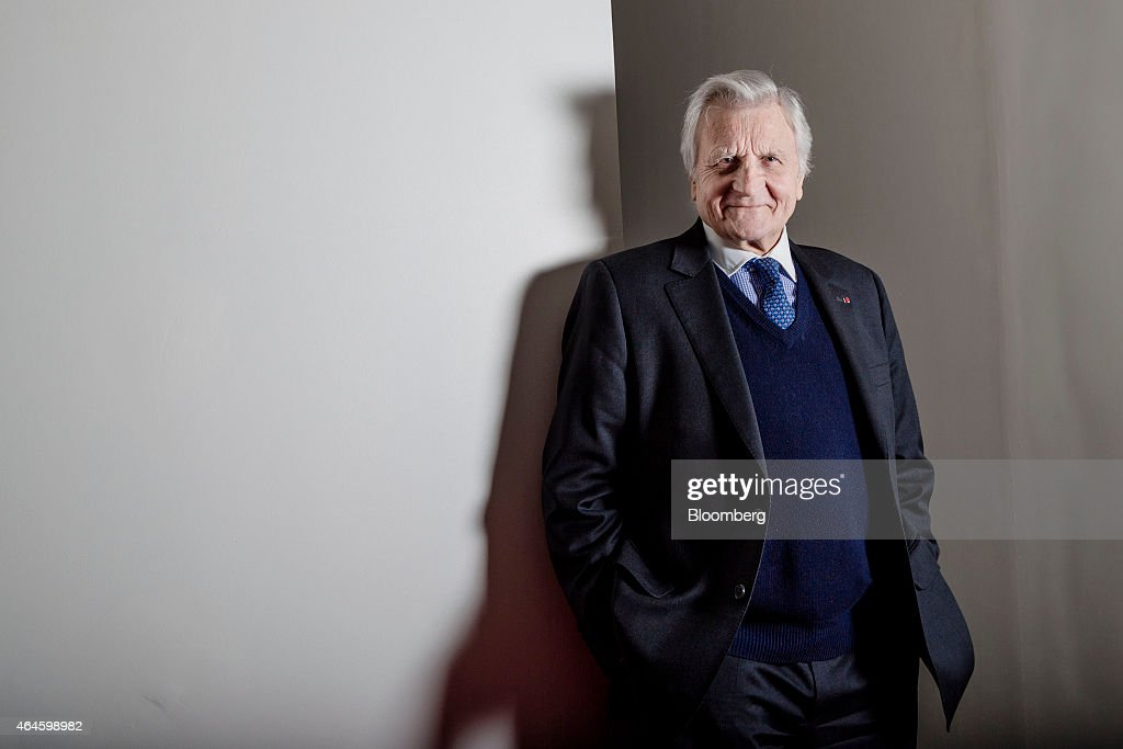 <a gi-track='captionPersonalityLinkClicked' href=/galleries/search?phrase=Jean-Claude+Trichet&family=editorial&specificpeople=208778 ng-click='$event.stopPropagation()'>Jean-Claude Trichet</a>, former president of the European Central Bank (ECB), poses for a photograph following a Bloomberg Television interview in Paris, France, on Friday, Feb. 27, 2015. Trichet said that Greece needs its plans approved by the international community in order to boost confidence in its economic plans. Photographer: Marlene Awaad/Bloomberg via Getty Images