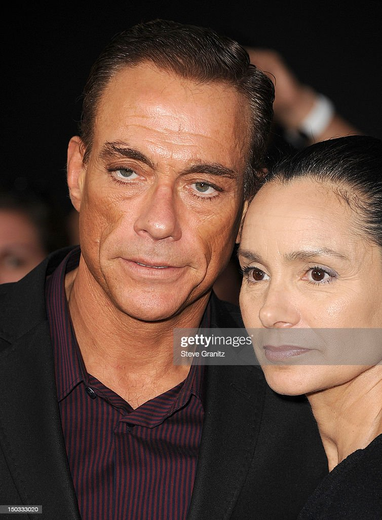 Jean-Claude Van Damme arrives at the 'The Expendables 2' - Los Angeles Premiere at Grauman's Chinese Theatre on August 15, 2012 in Hollywood, California.