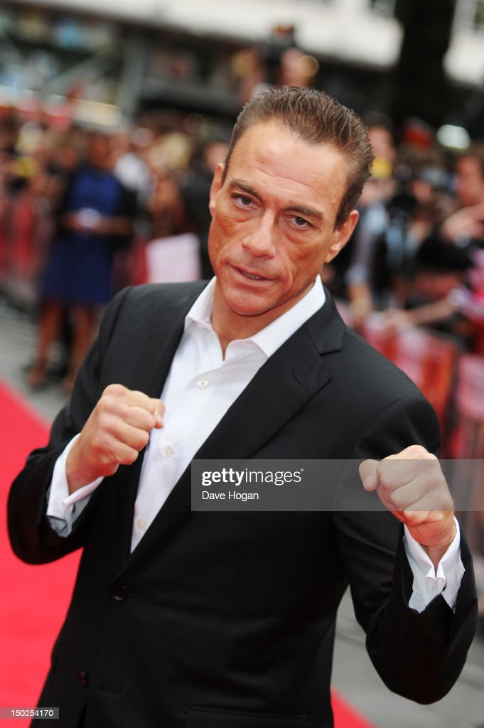 <a gi-track='captionPersonalityLinkClicked' href=/galleries/search?phrase=Jean-Claude+Van+Damme&family=editorial&specificpeople=566465 ng-click='$event.stopPropagation()'>Jean-Claude Van Damme</a> attends the UK premiere for The Expendables 2 at Simpsons On The Empire Leicester Square on August 13, 2012 in London, England.