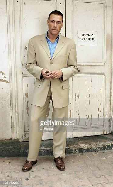 JeanClaude Van Damme during 2003 Cannes Film Festival Jean Claude Van Dam Portraits at Carlton Hotel in Cannes France