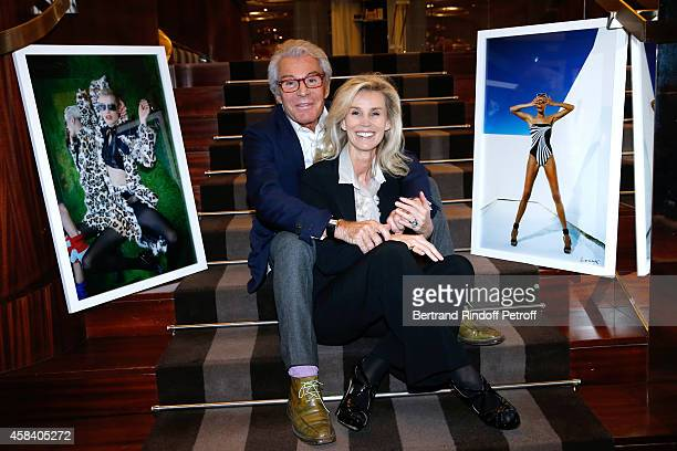 JeanDaniel Lorieux and his companion Laura Restelli attend JeanDaniel Lorieux signs his Book 'Sunstroke' at the Art Bookshop of the 'Royal Monceau...