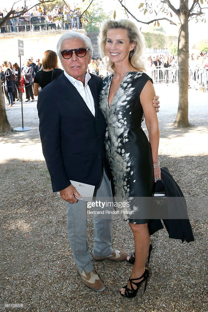 JeanDaniel Lorieux and his companion Laura Restelli attend the Elie Saab show as part of the Paris Fashion Week Womenswear Spring/Summer 2016 on...