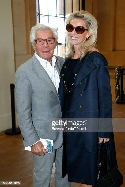 JeanDaniel Lorieux and his companion Laura Restelli attend the Elie Saab show as part of the Paris Fashion Week Womenswear Spring/Summer 2018 on...
