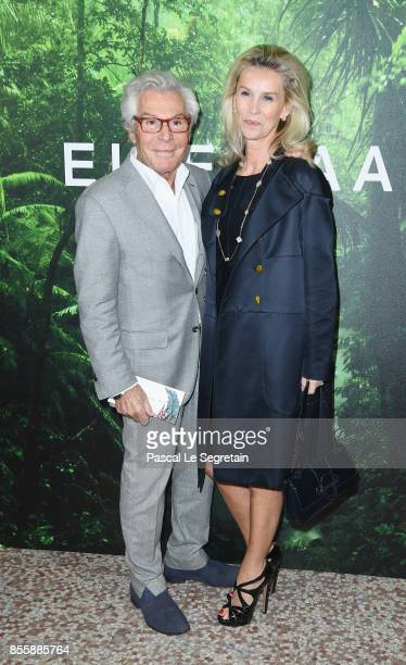 Jeandaniel Lorieux and Laura Restelli attend the Elie Saab show as part of the Paris Fashion Week Womenswear Spring/Summer 2018 on September 30 2017...