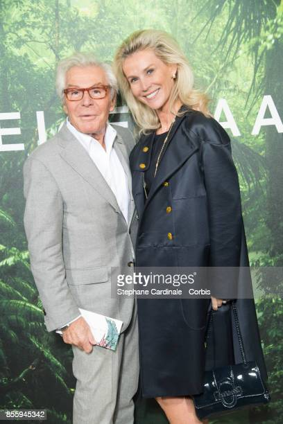 JeanDaniel Lorieux and Laura Restelli attend the Elie Saab show as part of the Paris Fashion Week Womenswear Spring/Summer 2018 at on September 30...