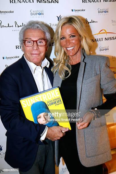 JeanDaniel Lorieux and Ophelie Winter attend JeanDaniel Lorieux signs his Book 'Sunstroke' at the Art Bookshop of the 'Royal Monceau Raffles Paris'...