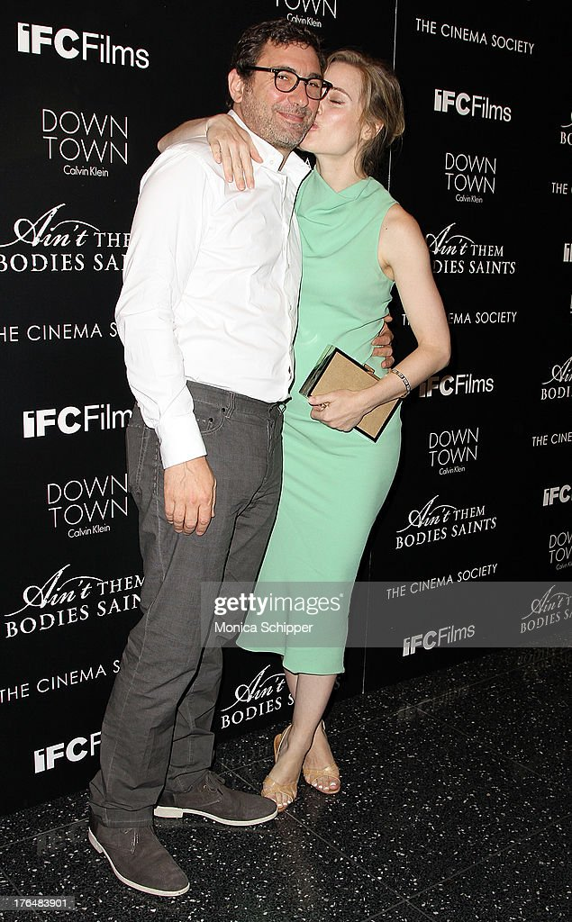 Jean-David Blanc and actress <a gi-track='captionPersonalityLinkClicked' href=/galleries/search?phrase=Melissa+George&family=editorial&specificpeople=201840 ng-click='$event.stopPropagation()'>Melissa George</a> attend the Downtown Calvin Klein with The Cinema Society screening of IFC Films' 'Ain't Them Bodies Saints' at The Museum of Modern Art on August 13, 2013 in New York City.