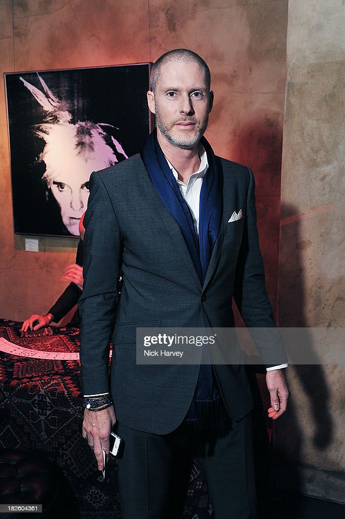 Jean-David Malat attends Baku Cellar 164 for an exclusive show by Gavin Turk, in collaboration with A Space for Art and Baku Magazine in support of The House of Fairytales on October 1st, 2013 in London, England.