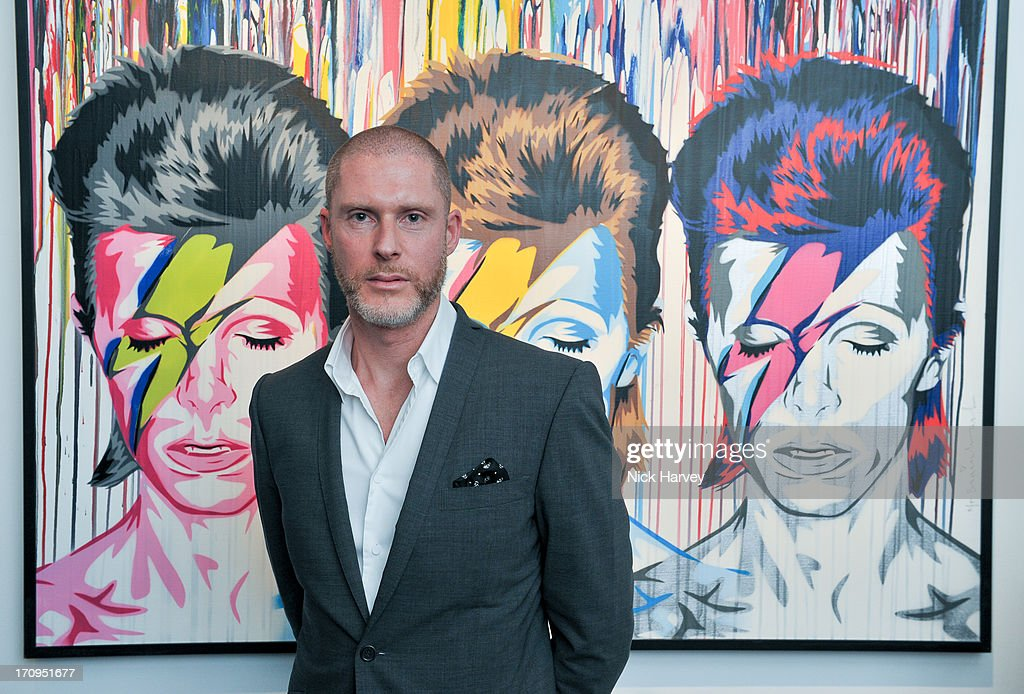 Jean-David Malat attends The Many Faces Of David Bowie at Opera Gallery on June 20, 2013 in London, England.