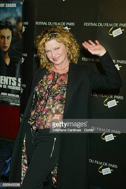 Jeane Manson arrives at the opening premiere of 'Secret Agents' at the Paris Film Festival