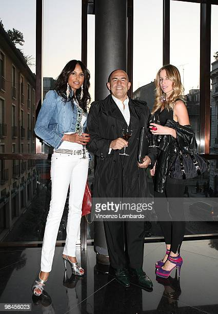 Jeaneane Fox Enrico Mambelli and Elke Palmaers attend ''Diversity By Nacho Carbonell'' at the Spazio Gianfranco Ferre on April 14 2010 in Milan Italy
