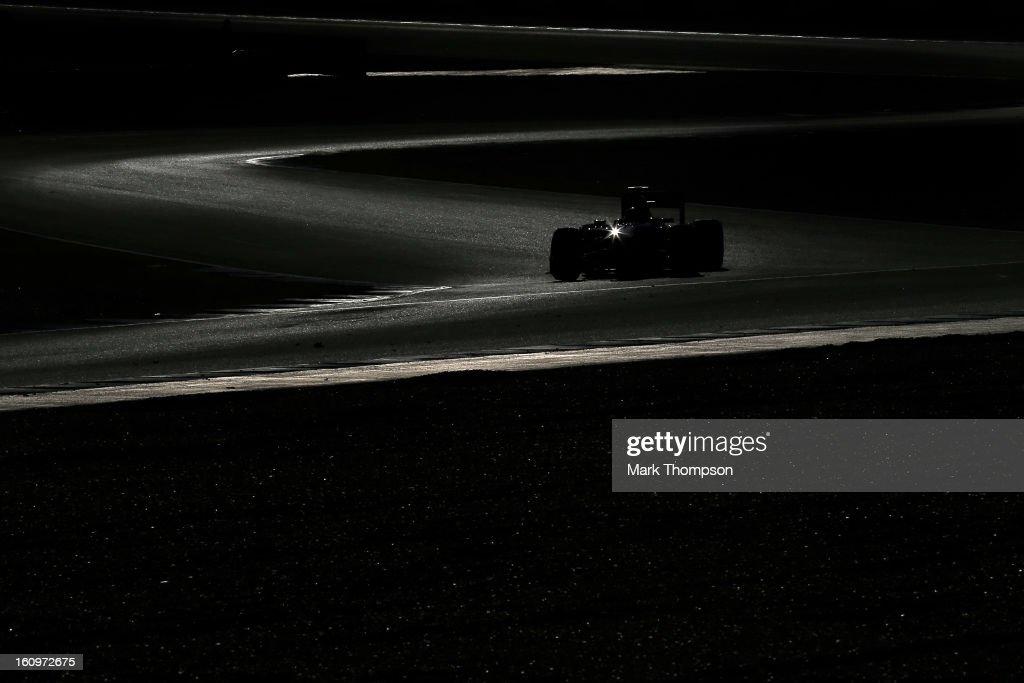 Jean-Eric Vergne of France and Scuderia Toro Rosso drives during Formula One winter testing at Circuito de Jerez on February 8, 2013 in Jerez de la Frontera, Spain.