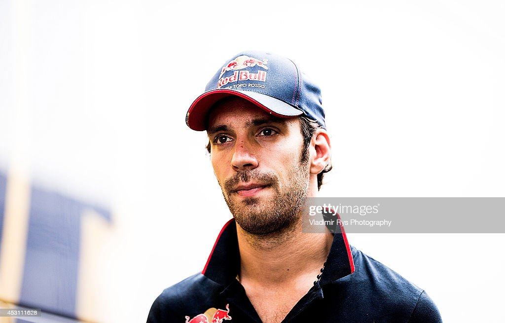 Jean-Eric Vergne of France and Scuderia Toro Rosso is seen ahead of the Hungarian Formula One Grand Prix at Hungaroring on July 27, 2014 in Budapest, Hungary.