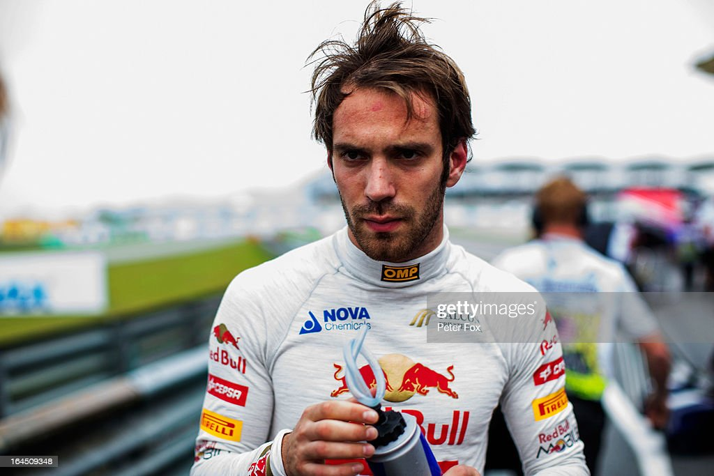 Jean-Eric Vergne of France and Scuderia Toro Rosso prepares to drive during the Malaysian Formula One Grand Prix at the Sepang Circuit on March 24, 2013 in Kuala Lumpur, Malaysia.